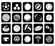 Collection of Sport Ball Icons on White Background Royalty Free Stock Image
