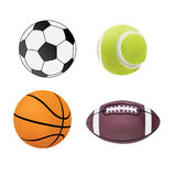 Collection of sport balls Stock Image