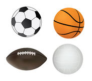 Collection of sport balls Royalty Free Stock Photo