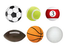Collection of sport balls Stock Photos