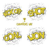 Collection sport comic bubbles Royalty Free Stock Photos