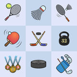 Collection of sport icons. Stock Images