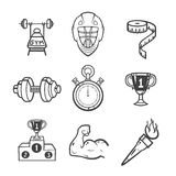 Collection of sport icons. Royalty Free Stock Photo