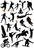 Collection of sport vector royalty free illustration