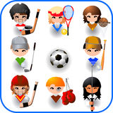 Collection of sports  Stock Image