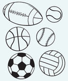 Collection sports balls Stock Image