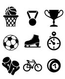 Collection of sports icons Stock Photo