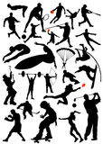Collection of sports vector. Black stock illustration