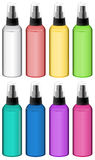 Collection of spray bottles Royalty Free Stock Image