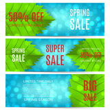 Collection of spring sale banners Stock Images