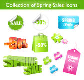 Collection of Spring Sales Stickers. Collection of spring sales icons for print or web Royalty Free Stock Photos