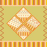 Collection of square tags with ornament Royalty Free Stock Photo