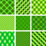 Collection of st. patricks backgrounds Stock Photos