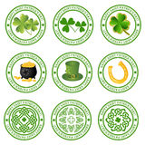Collection of st. patricks logos Royalty Free Stock Photos