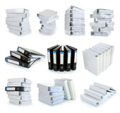 Collection stack of file Office binder Royalty Free Stock Photography