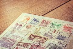 Collection of stamps Stock Image