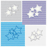 Collection of star backgrounds Stock Photo