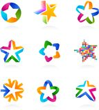 Collection of star icons, vector Royalty Free Stock Image