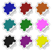 Checkered Stickers Royalty Free Stock Photo