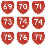 Collection of state highway shields in New Zealand Royalty Free Stock Photography