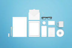 Collection of stationery items to create great presentations for your branding projects Royalty Free Stock Photography