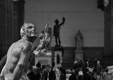 Collection of statues on Piazza della Signoria, Fl royalty free stock photo