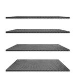 Collection of steel diamond plate shelves on white Royalty Free Stock Photography