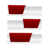 Collection of steel tag banner 002 Stock Photo
