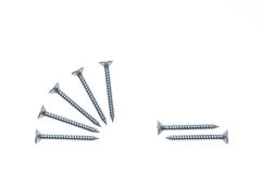 Collection of steel twinfast screws Stock Photos