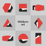 Collection Stickers cards Royalty Free Stock Images