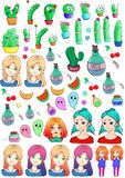 Collection of stickers. royalty free illustration