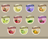 Collection Of Stickers For Smoothies Stock Images