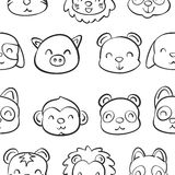 Collection stock of animal doodle hand draw Royalty Free Stock Image
