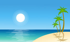 Collection stock beach scenery vector Royalty Free Stock Images