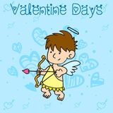 Collection stock of cupid character valentine Stock Photography