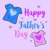 Collection stock father day celebration. Vector art Royalty Free Stock Photo