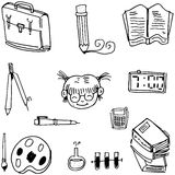 Collection stock school doodles. With hand draw Stock Photography