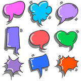 Collection stock of speech bubble doodles Royalty Free Stock Photos