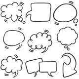 Collection stock of text bubble style Royalty Free Stock Photos