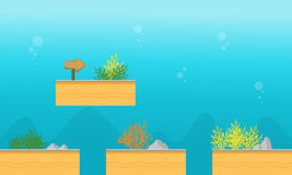 Collection stock underwater game background. Vector art Stock Photography