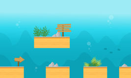 Collection stock underwater style background game. Illustration Stock Photos
