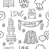 Collection stock of wedding doodles style Royalty Free Stock Photo