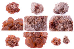 Collection of stone mineral Aragonite Stock Photo