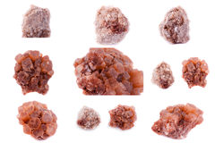 Collection of stone mineral Aragonite. Close up Royalty Free Stock Image