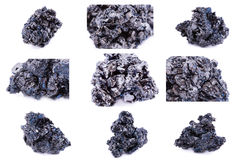 Collection of stone mineral Cowellite Stock Photo