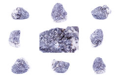 Collection of stone mineral Galena Stock Photos