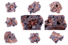 Collection of stone mineral Getit Stock Photos