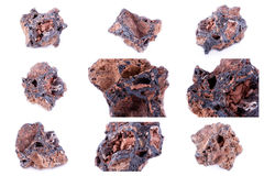Collection of stone mineral Getit Stock Photo