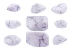Collection of stone mineral Magnesite Royalty Free Stock Photos