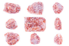 Collection of stone mineral Orange calcite Stock Photography